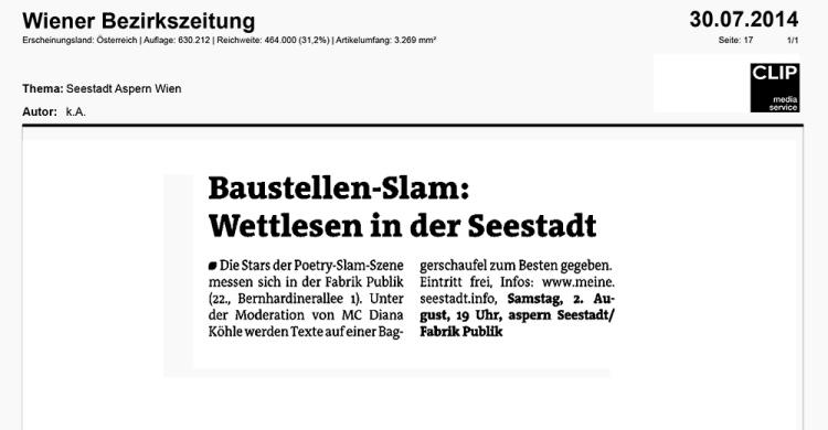 14-07-31 Wiener Bezirkszeitung_Baustellen Slam