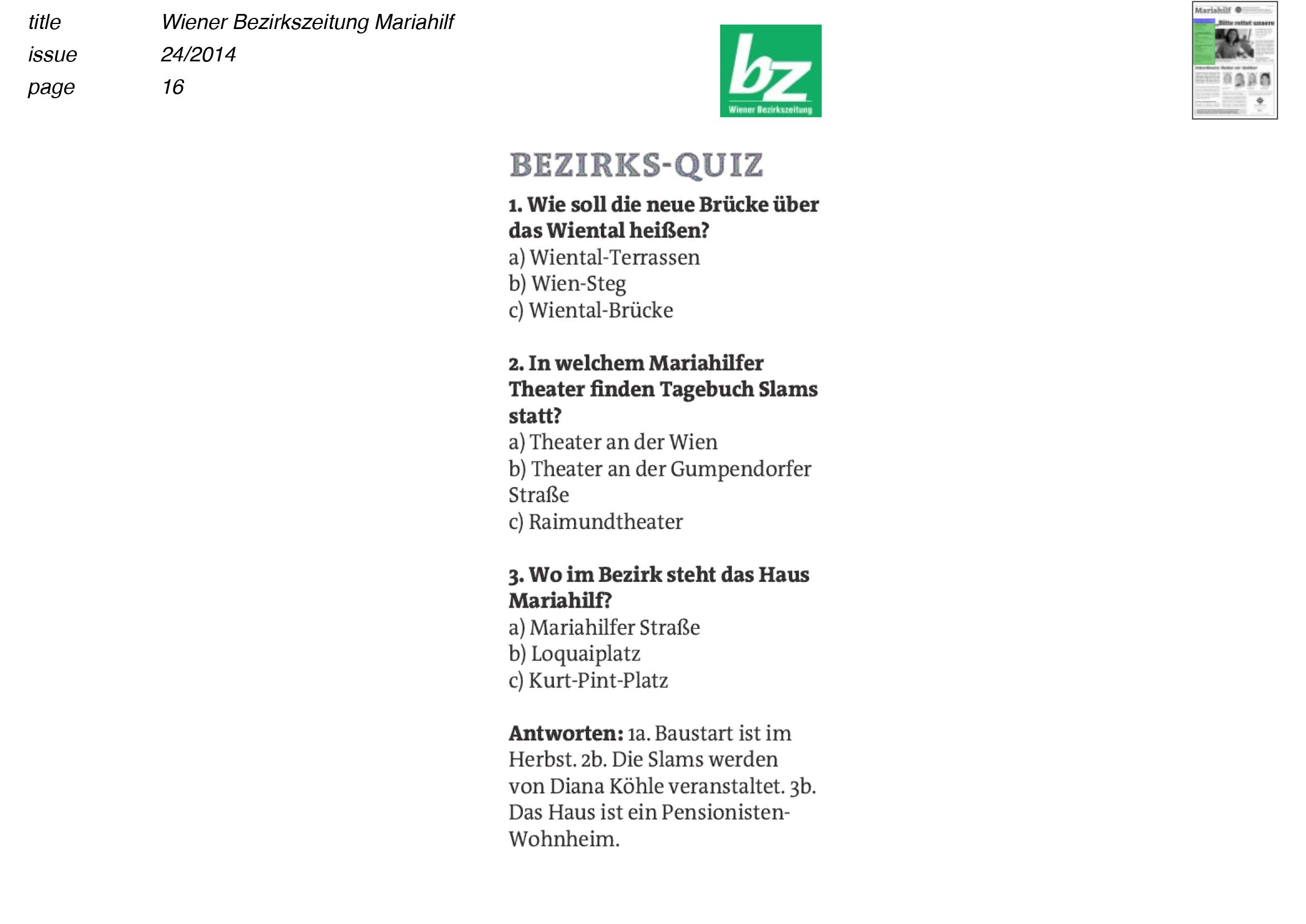 140612_Wiener Bezirkszeitung_Quiz